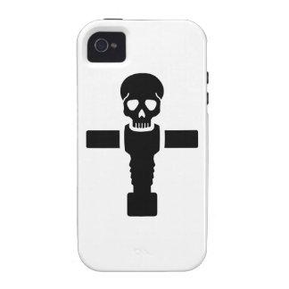 Cráneo de Foosball iPhone 4 Carcasa