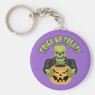 Cráneo de Frankenstein Llavero Redondo Tipo Pin