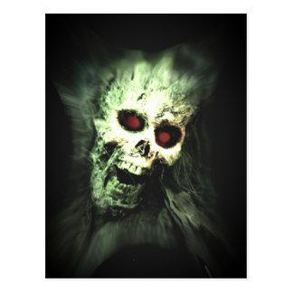 Cráneo de griterío asustadizo postal