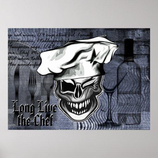 Cráneo de guiño de encargo del cocinero: Vive de l Impresiones