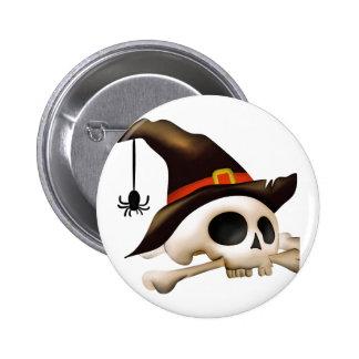 Cráneo de Halloween con el gorra del hueso y de la