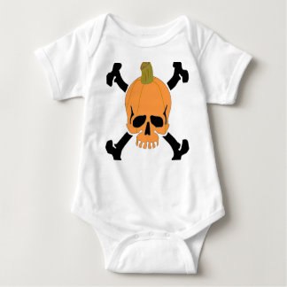 Cráneo de Halloween de la calabaza Body Para Bebé