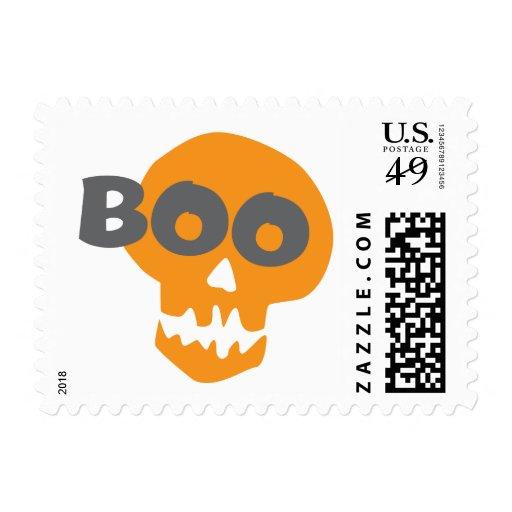 Cráneo de Halloween del abucheo Estampillas