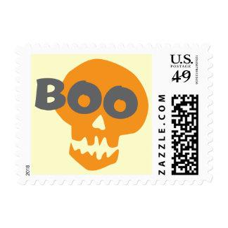 Cráneo de Halloween del abucheo Sello