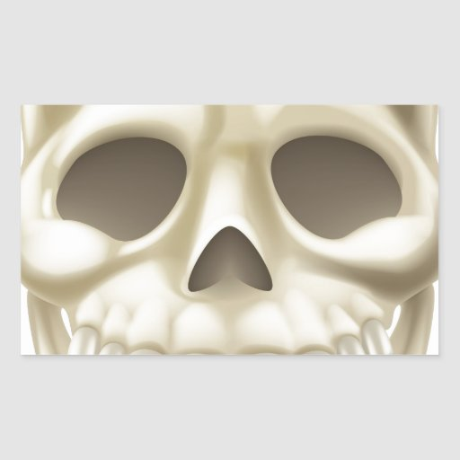 Cráneo de Halloween del dibujo animado Rectangular Altavoces
