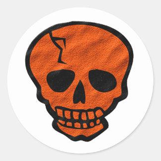 Cráneo de Halloween Pegatina Redonda