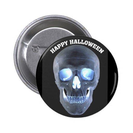 Cráneo de Halloween Pin Redondo 5 Cm