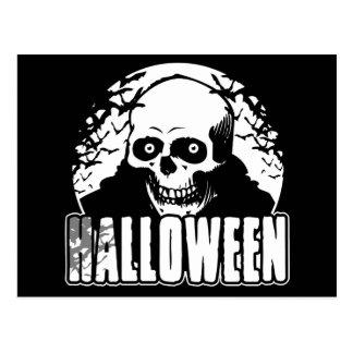 Cráneo de Halloween Postales
