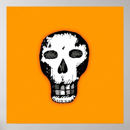 Cráneo de Halloween Póster