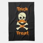 cráneo de Halloween Toallas