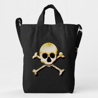 Cráneo de Halloween y bolso de la bandera pirata Bolsa De Lona Duck