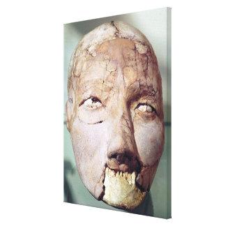 Cráneo, de Jericó, 7000-6000 A.C. Impresiones En Lona Estiradas