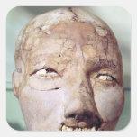 Cráneo, de Jericó, 7000-6000 A.C. Calcomanías Cuadradas