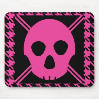 Cráneo de Johnny - rosa Tapetes De Ratón
