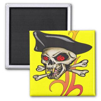 Cráneo de juego del pirata imán para frigorifico