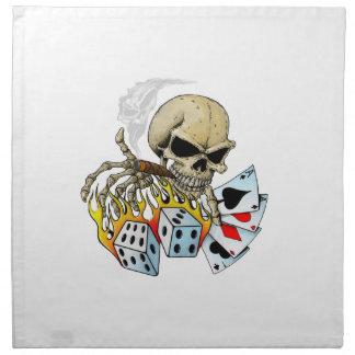 Cráneo de juego servilletas de papel