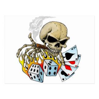 Cráneo de juego postal