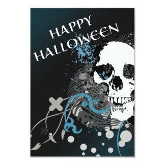 """cráneo de la alta fidelidad del feliz Halloween Invitación 3.5"""" X 5"""""""