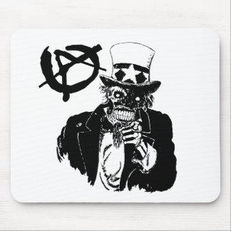 Cráneo de la anarquía alfombrilla de raton