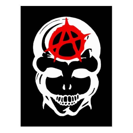Cráneo de la anarquía postales