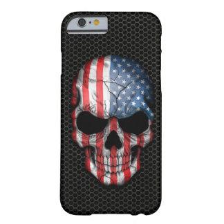 Cráneo de la bandera americana en el gráfico de funda de iPhone 6 slim