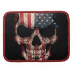 Cráneo de la bandera americana en negro organizadores