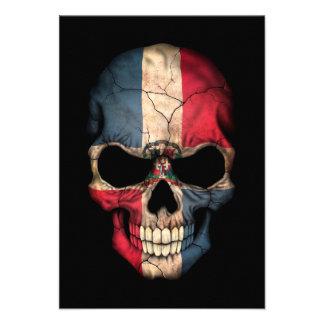 Cráneo de la bandera de la República Dominicana en Anuncio Personalizado