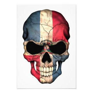Cráneo de la bandera de la República Dominicana