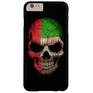 Cráneo de la bandera de United Arab Emirates en Funda De iPhone 6 Plus Barely There