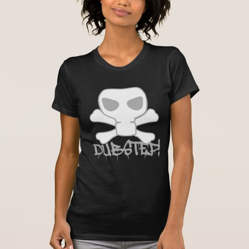 Cráneo de la careta antigás de Dubstep Camiseta