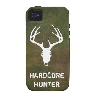 Cráneo de la caza de los ciervos con las astas iPhone 4 fundas