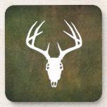 Cráneo de la caza de los ciervos con las astas posavasos de bebidas