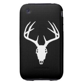 Cráneo de la caza de los ciervos con las astas tough iPhone 3 protector