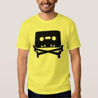 Cráneo de la cinta de casete del RASGÓN y camiseta Camisas