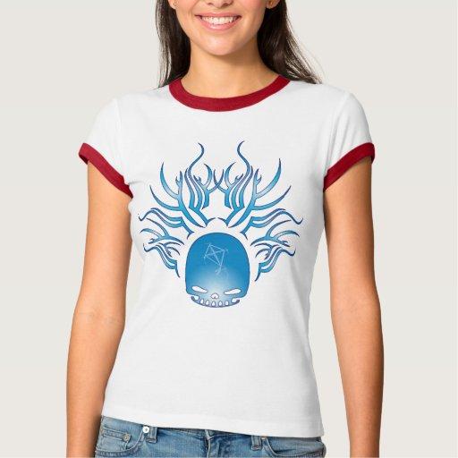 Cráneo de la cometa camisetas