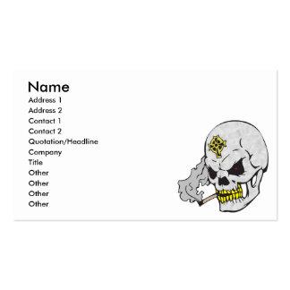 cráneo de la cruz céltica tarjetas de visita