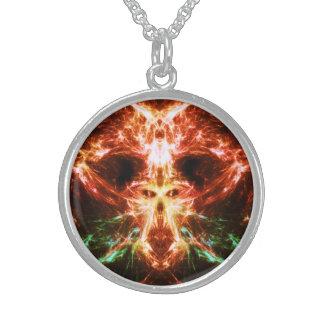 Cráneo de la energía de la llama joyeria