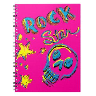 Cráneo de la estrella del rock cuaderno