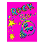 Cráneo de la estrella del rock postales
