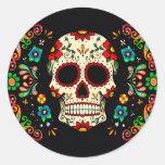 Cráneo de la fiesta pegatinas redondas
