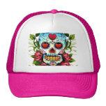Cráneo de la flor gorras