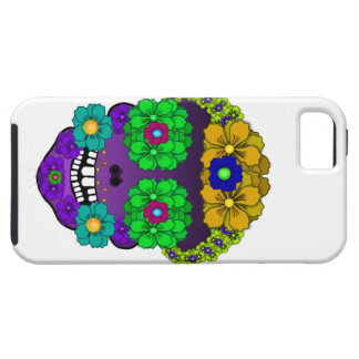 Cráneo de la flor iPhone 5 carcasa