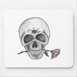 Cráneo de la flor mousepads
