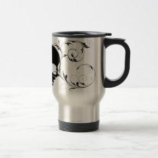 cráneo de la flor tazas de café