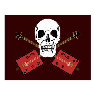 Cráneo de la guitarra de la caja de cigarros postales