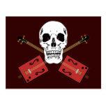 Cráneo de la guitarra de la caja de cigarros tarjetas postales