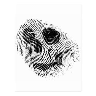 Cráneo de la huella dactilar postales