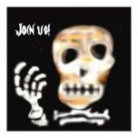 Cráneo de la invitación del fiesta de Halloween Invitación 13,3 Cm X 13,3cm