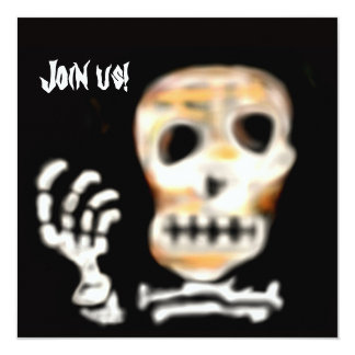 Cráneo de la invitación del fiesta de Halloween