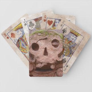 cráneo de la lápida mortuaria cartas de juego